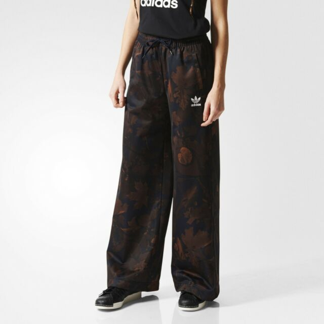 b52f1ece82d Adidas Originals Leaf Camo Track Pants Women's Brown AX5968 Limited Rare