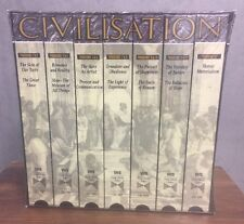 Civilisation A Personal View Lord Clark VHS Box Set BBC Documentary New Sealed