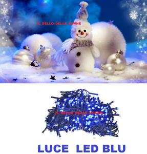 LUCI-LED-NATALE-NATALIZIE-ADDOBBI-DECORAZIONE-ALBERO-DI-NATALE-100-LED-BLU-FESTE