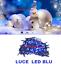 LUCI-LED-NATALE-NATALIZIE-ADDOBBI-DECORAZIONE-ALBERO-DI-NATALE-100-LED-BLU-FESTE miniatura 1
