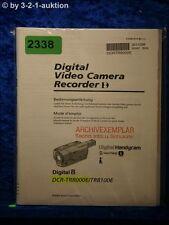 Sony Bedienungsanleitung DCR TR8000E / TR8100E Digital Video Camera (#2338)