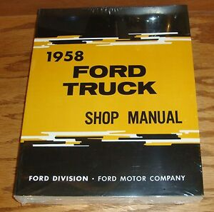 FORD 1958 Truck Owner/'s Manual 58 Pick Up
