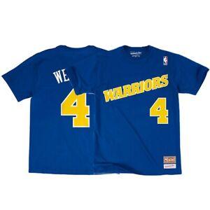 the best attitude 3b824 2384e Details about Chris Webber NBA Golden State Warriors Mitchell & Ness Blue  N&N Jersey T-Shirt