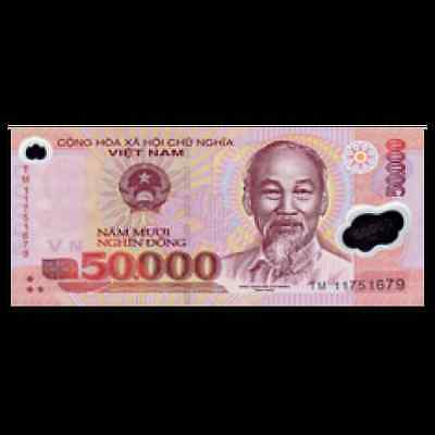 PCS Vietnam 100,000 X 5 Pieces = 500,000 Dong Currency VND Banknotes