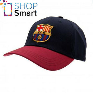 24c0c50838bea FC BARCELONA SOCCER TEAM FC RED BLACK BASEBALL CAP HAT OFFICIAL ...