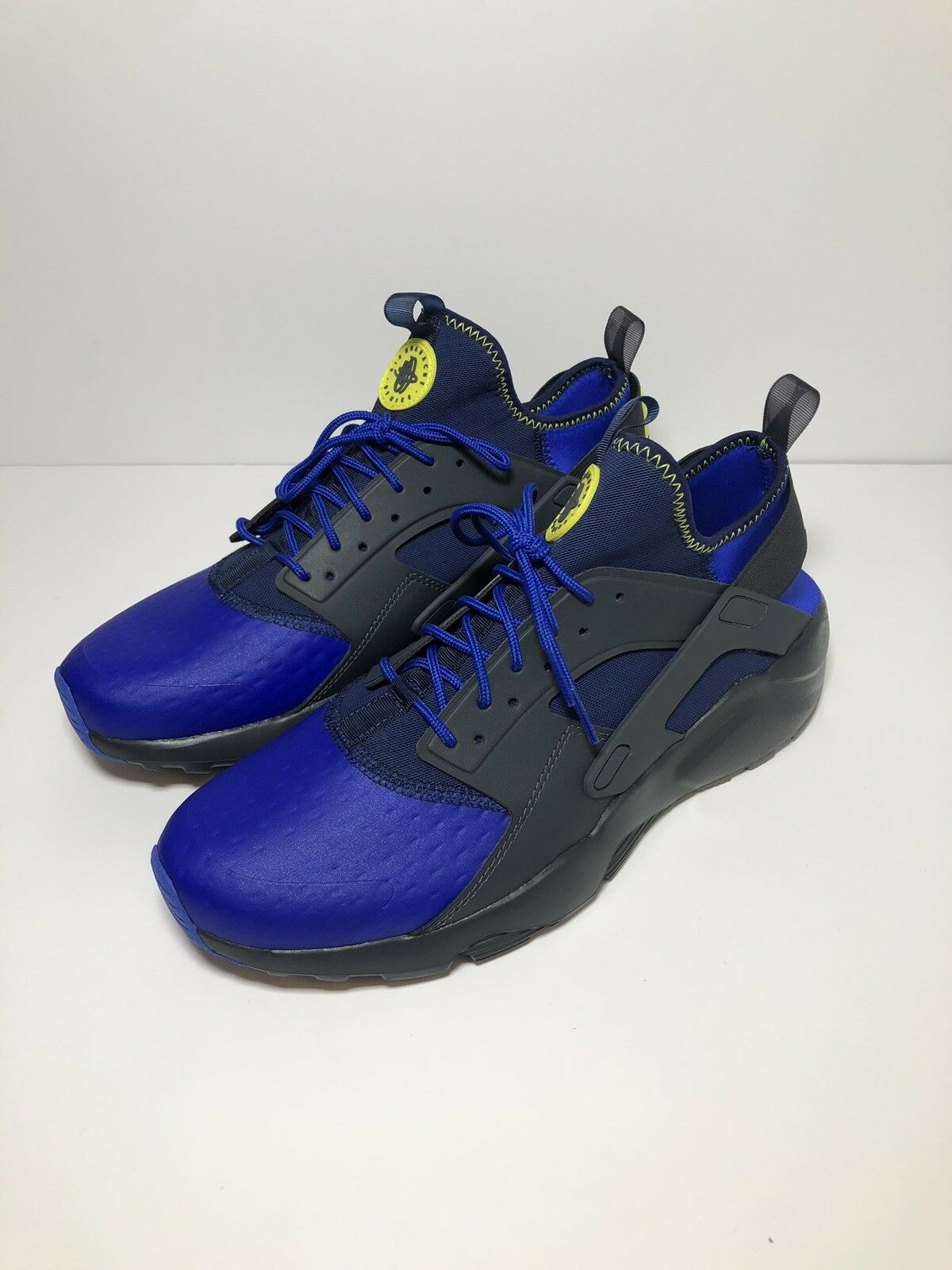 Nike Air Huarache Run Ultra SE Men blueee Black shoes 875841-001 Size 10.5