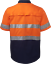 HI-VIS-SHIRT-SAFETY-COTTON-DRILL-WORK-WEAR-SHORT-SLEEVE-Air-Vents-UPF-50 thumbnail 30