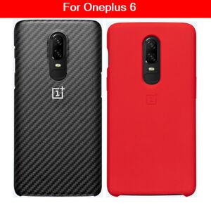finest selection 0c7ad c08ba Details about original OnePlus 6 Sandstone Silicon Nylon Karbon Bumper Case  For One plus 6