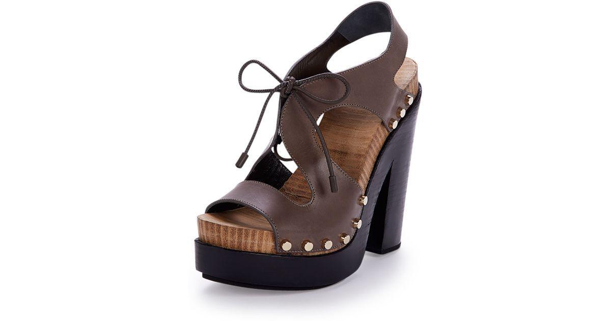 Balenciaga Leather Lace-Front Sandal  795.00  Size 40