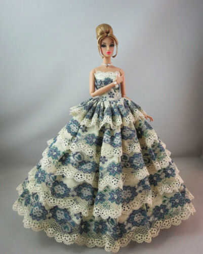 Fashion Royalty Pretty  Multi Lace Gown Princess Dress For 11.5in.Doll
