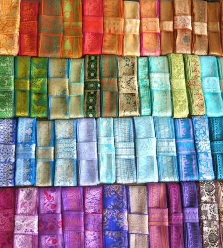 Assorted 10 Yards Vintage Trim Sari Borders Vintage Fabrics Silk Ribbon Laces