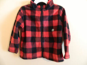 5921312a213c NWT Toughskins boy micro fleece jacket in red   black plaid  size 2T ...