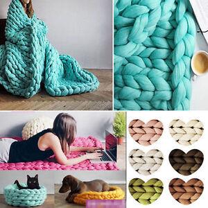 DIY-Craft-Super-Soft-Chunky-Wool-Yarn-Bulky-Arm-Knitting-Wool-Roving-Crocheting