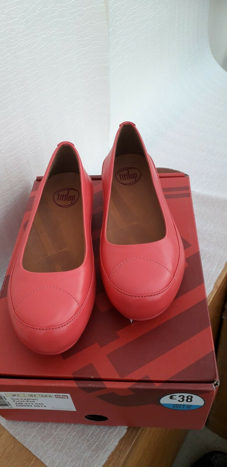 Fittlop due (leather) pink size 3.5 new