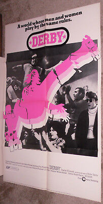 Outdoor Sports Roller Derby Original 1971 One Sheet Movie Poster Charlie O'connell/ann Calvello Neither Too Hard Nor Too Soft