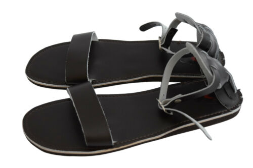 72459e25bc73 Womens Ladies Girls Natural Calf Leather SLIPPER Mules Flip Flops Beach  Sandals Deep Brown UK 3   EU 36