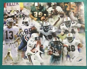Vtg-Miami-Dolphins-Football-Alumni-Signed-Super-Mark-Duper-85-Autographed