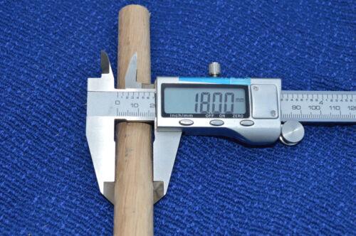 50pcs Chêne en Bois DOWEL ROD 18 mm x 300 mm brochage = 15 M £ 3.40 par mètre