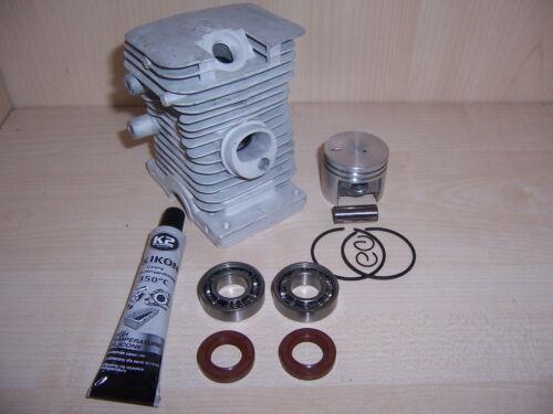 Cilindro del pistón adecuado Stihl 018 ms180 nuevo set 6 motor sierra motosierra 10mm pin