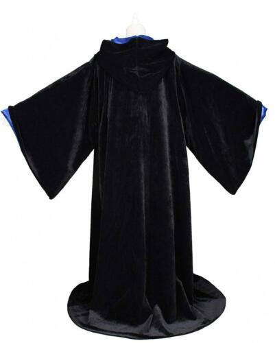 LuckyMjmy Velvet Wizard Robe with Satin Lined Hood and Sleeves