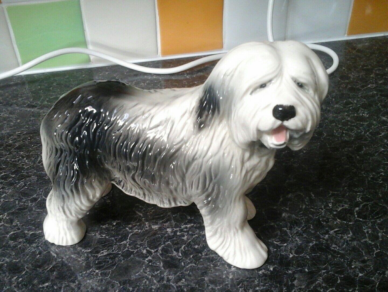 Dog ornament used, Melba Ware, English Sheepdog. Good Condition.