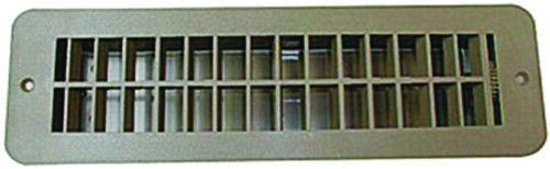 Tan RV Designer H860 Floor Register with Damper