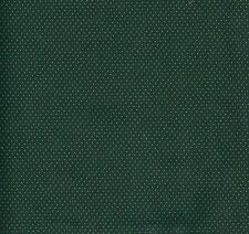 Patchwork coupon tissu coton américain pois dorés sur fond vert 45 x 55cm NOEL