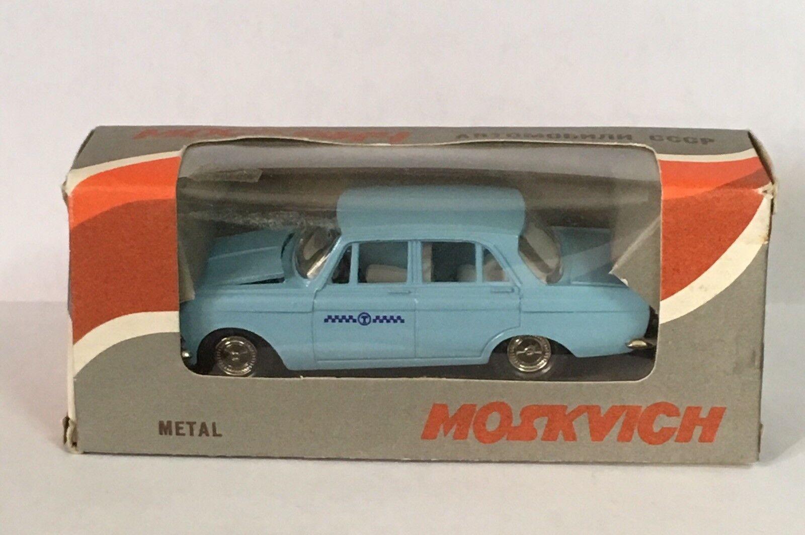 Mosvich 412 taxi Diecast voiture 1 43 URSS Vintage Bleu Clair
