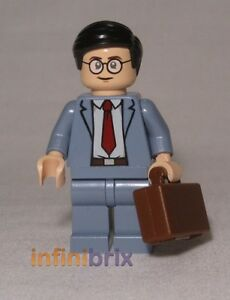 Lego-Clark-Kent-Minifigure-CUSTOM-Superman-Super-Heroes-NEW-cus353