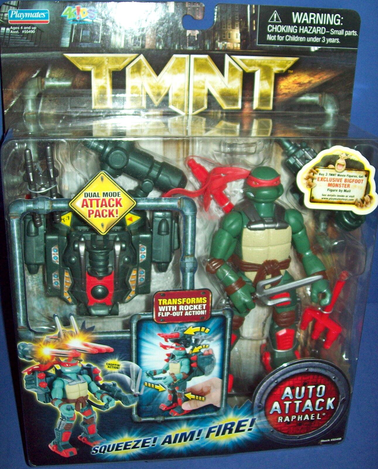 Tmnt Teenage Mutant Ninja Turtle Raphael Car Angriff Figur Neu Moc