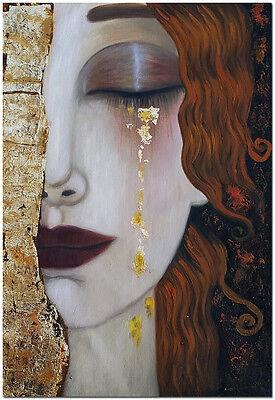 Image result for gustav klimt crying woman