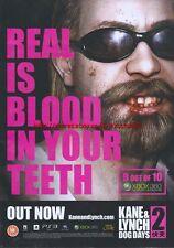 "Kane & Lynch 2 Dog Days ""Out Now"" 2010  Magazine Advert #4571"