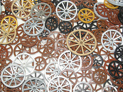 Wheel Roue Hard Plastic Spoked 30234 Choose Quantity x2 x4 /& Color Lego