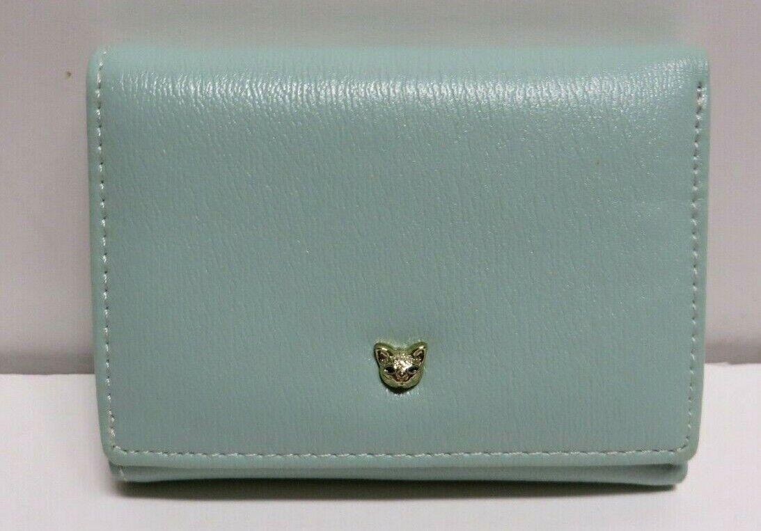Miniso Wallet Light Green w Pink Interior 4