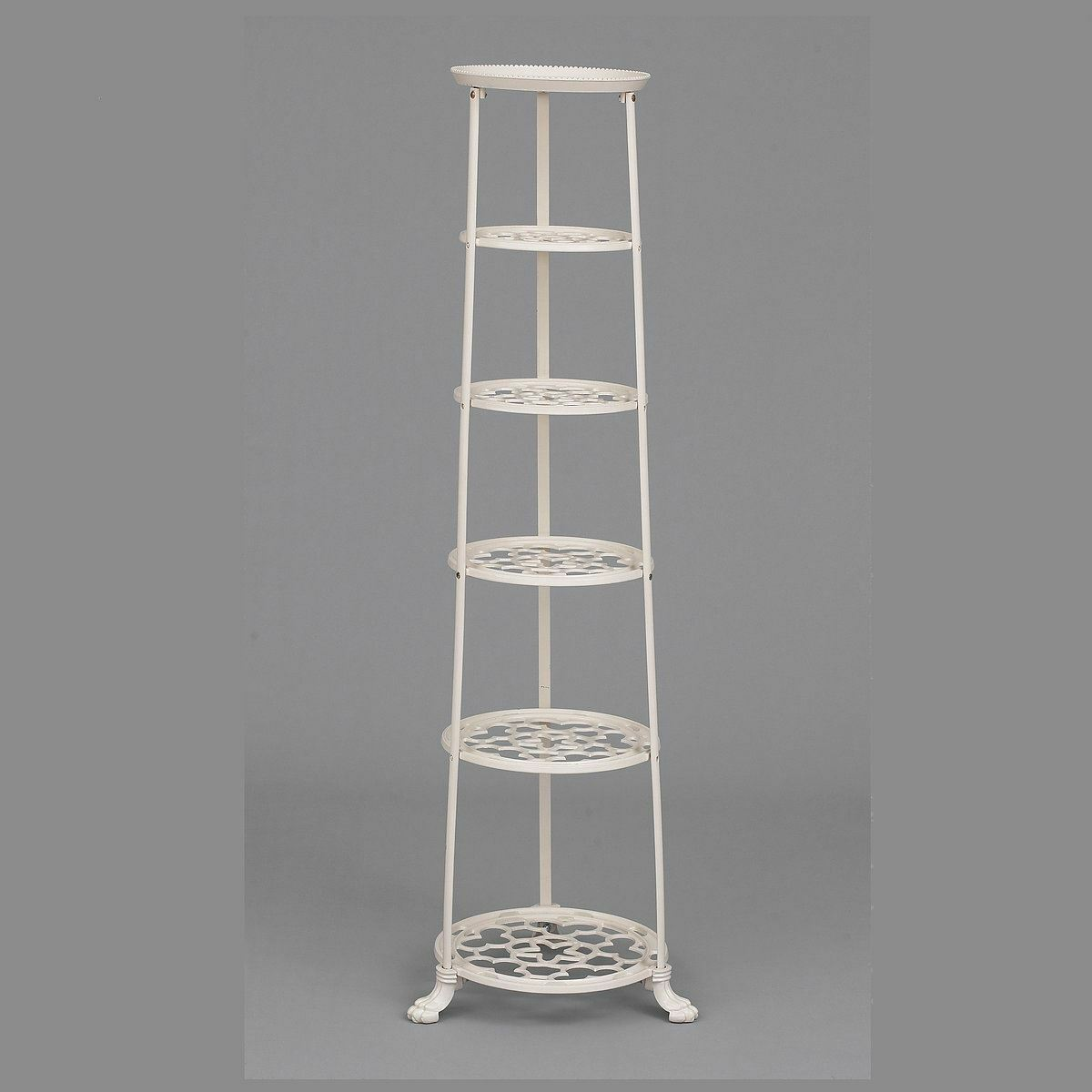 6 Tier  Pie Pot Lane  Vintage Pot and Pan Stand In Cream