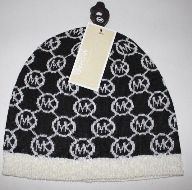 e4db4a09a Michael Kors Ladies Signature MK Beanie Hat One Size Black