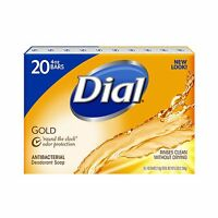 Dial Antibacterial Deodorant Gold Bar Soap 4 Ounce (pack Of 20)... Free Shipping