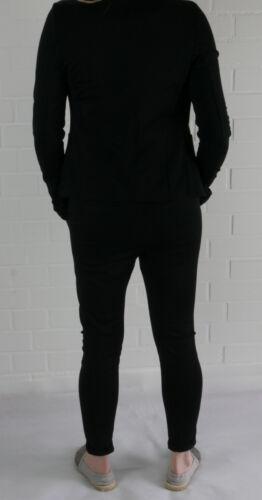 ESViViD Coole Bequeme Sportliche Jersey Hose Chino Gr XL 44 46 schwarz black uni