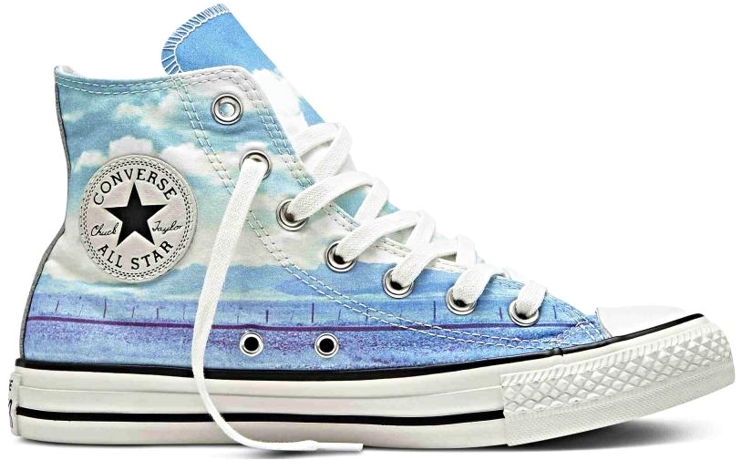 CONVERSE ALL CHUCK TAYLOR ALL CONVERSE STAR CT AS HI SUNSET 551007C SPRAY PAINT Blau/Weiß d49a8e