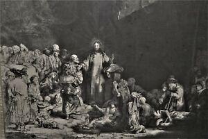 GRAVURE-REMBRANDT-LA-PIECE-AUX-CENT-FLORINS-EVANGILE-CHRIST-RELIGION