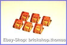 Lego 6 x Dachstein Transparent-Orange 1x1 - 50746 - Trans-Orange Slope - NEU/NEW