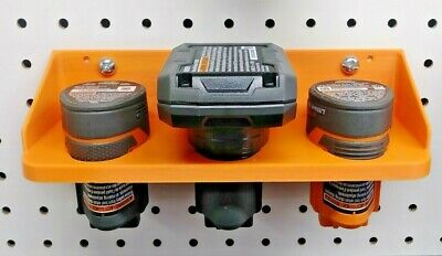 Milwaukee /& Bosch M12 Extra Lg Triple Battery Holder for Pegboard /& T-Slot Bds
