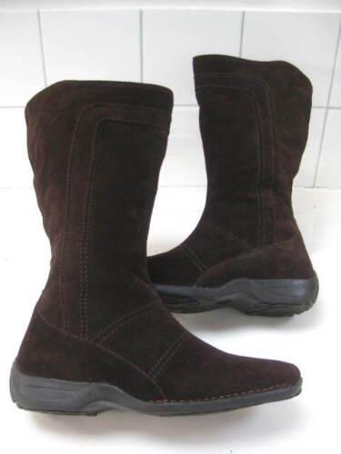 Donna marrone Clarks Stivali in taglia reale K 5 Uk scamosciata pelle Snow 5 Flats al ginocchio 88wrFxqg