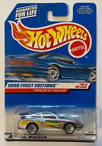 1999-HOTWHEELS-PORSCHE-911-GT3-Cup-RS-SILVER-Nuovo-di-zecca-MOC-molto-rara