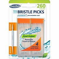 6 Pack - Dentek Deep Clean Bristle Picks Mint 250 Count Each on sale