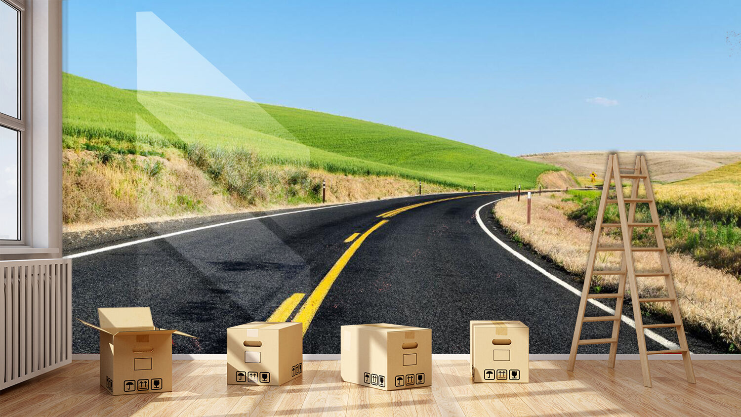 3D Highway lawn 2655 Wall Paper Wall Print Decal Wall Deco Indoor Wall Murals
