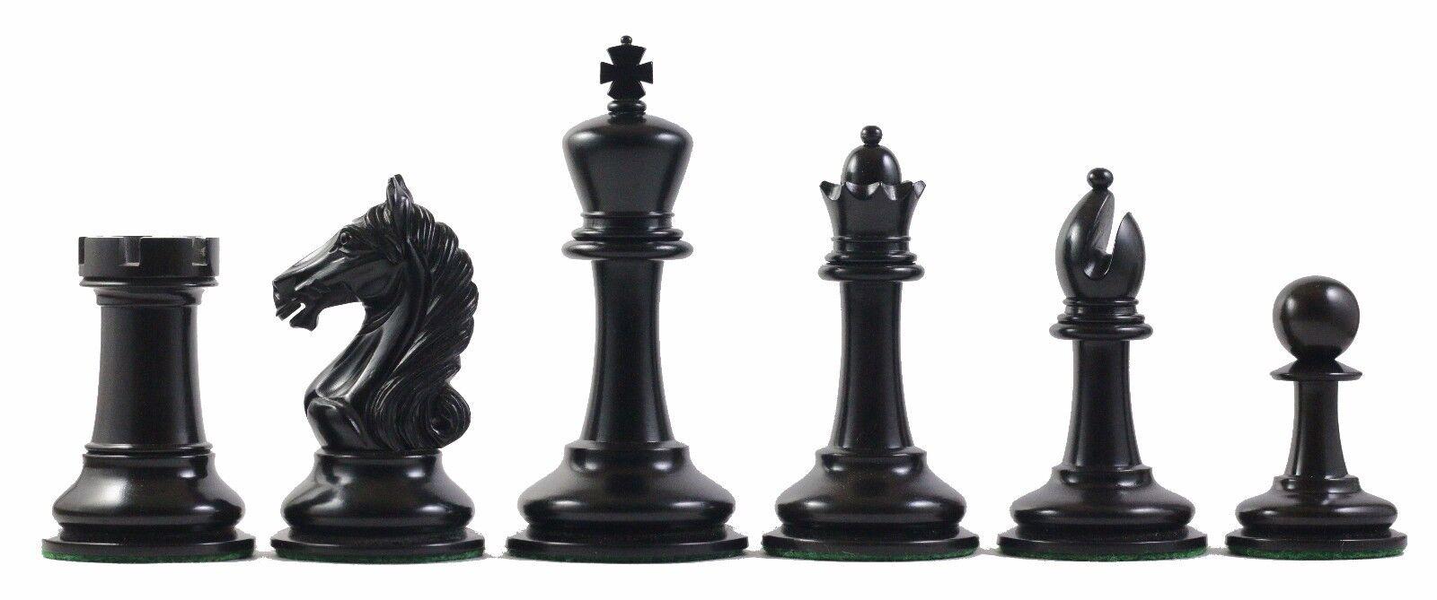 Antique Warrior Premium Staunton Chessmen 4 Inch in Ebony and Antiqued Box Wood