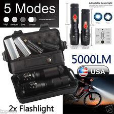 2x 5000lm X800 ShadowHawk Tactical Flashlight LED Military Grade G700 Torch Lamp