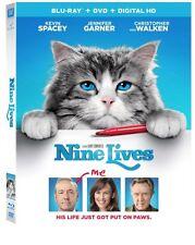 Nine Lives (Blu-ray, DVD, + Digital HD, 2016, 2-Disc Set) *New, Free S&H*