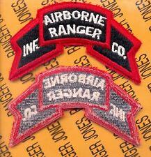 US Army AIRBORNE RANGER Infantry Company Scroll Vietnam era patch c/e
